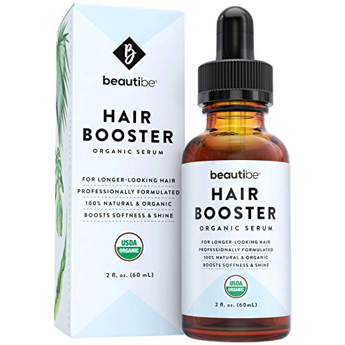 Hair Growth Serum with Argan Oil & Organic Castor Oil for Hair Growth - Natural Hair Oil for Dry Hair, Hair Serum for Damaged Hair, Hair Loss Treatment & Hair Growth Oil for Women & Men