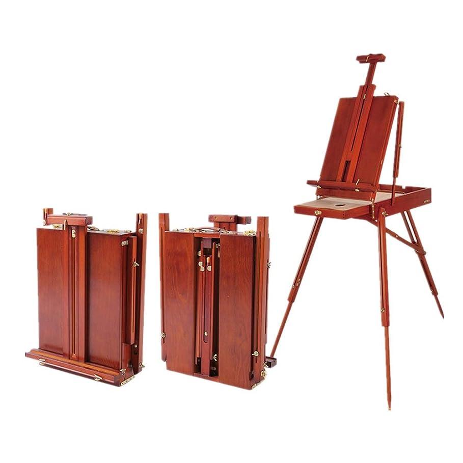 習熟度ヘルパー大声でイーゼル ポータブルスケッチデッサンと絵画多色オプションのための携帯用三脚イーゼル調整に最適 木製ミニイーゼル (Color : Red, Size : 34x11x50cm)