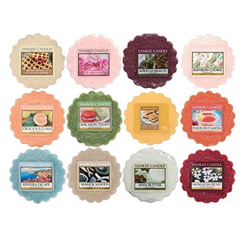 CREOFANT Yankee Candle Tart Set · Verschiedene Düfte · Yankee Candle Set mit 12 Stück · Duftwachs Yankee Candle Mix · Wax Melts