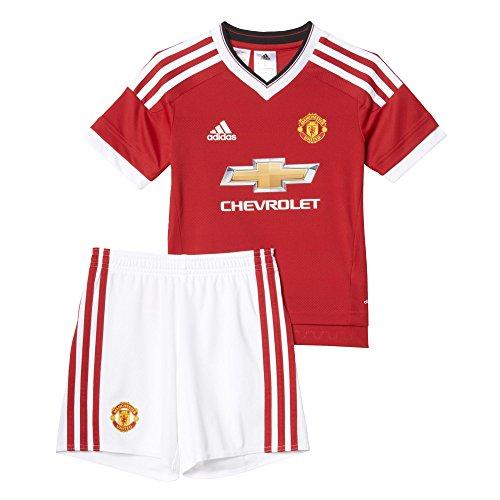 adidas MUFC H Mini Kinder-Trainingsanzug für 5- bis 6-Jährige Rojo/Blanco/Amarillo
