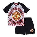 Manchester United FC - Pijama Corto para niño - Producto Oficial - Gris - 8-9 años