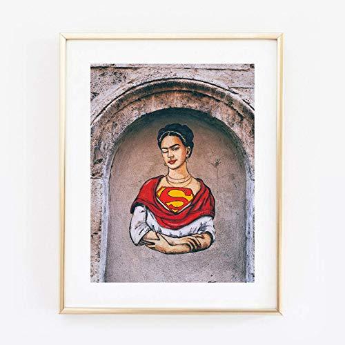 Din A4 Kunstdruck ungerahmt Frida Kahlo Portrait Street Art Graffiti Foto Fotokunst 21x30 cm Druck Poster Bild