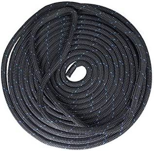 MARLOW Blue Ocean Credence Dock Line 1 2in 12mm x 6m Black New Shipping Free Spliced -