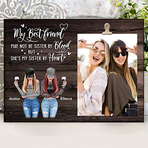 Print Nations Personalized Photo Frame - To Bestie Sister Friends Gifts for Women Friend Female - Best Friend Gifts for Women - Friendship Gifts for Him Her for Friendship Birthday Gifts for Women Picture Frame (Buy 2 Get 30% Off (2x12x8))