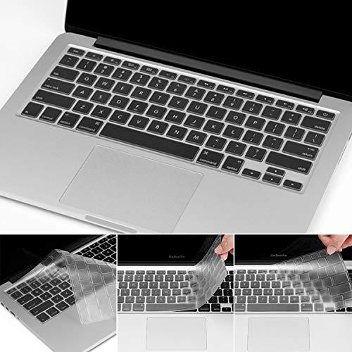"Preisvergleich Produktbild Prämie Ultra Dünn Tastaturschutz Kompatibel Neueste MacBook Pro 16"" Schutzfolie Cover Displayschutzfolie Transparent mit Apple MacBook Pro 16"" (from 2019) TPU Klar"