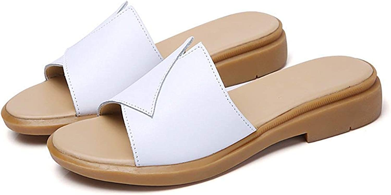 Comfortable and beautiful ladies sandals Summer Flat Sandals and Slippers Fashionable Wild shoes Leather Sandals