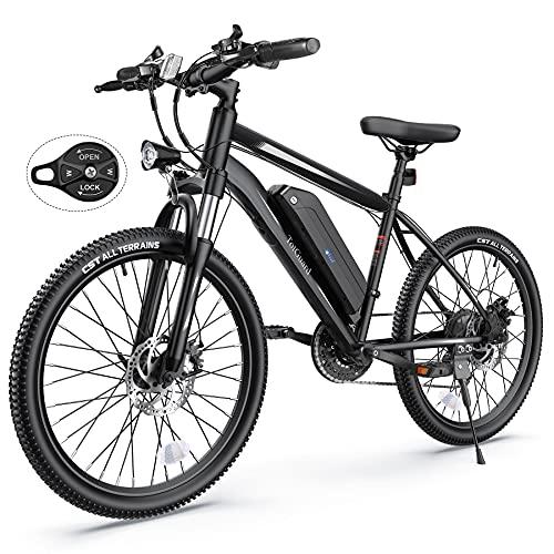 Electric Bike, TotGuard Electric Bike for Adults, 26' Ebike 350W Adult Electric Bicycles, 19.8MPH 37.3Miles Electric Mountain Bike, 36V 10.4Ah...