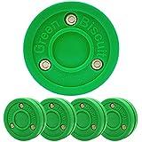 Green Biscuit Paquete de 4 Passer Off-Ice Stickhandling & Passing Puck Esta galleta es ideal para hockey callejero
