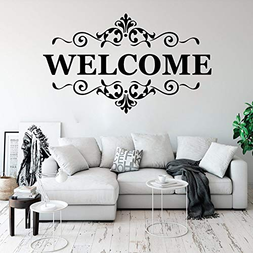 guijiumai Adhesivos de Pared de Vinilo Bienvenido a Nuestras calcomanías de Pared para el hogar, calcomanías de Cotizaciones de Bienvenida, Bienvenida, decoración de Dormitorio de Oficina K 8 71x42cm