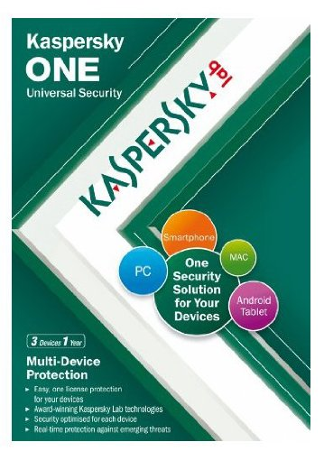 Kaspersky One Universal Security, 3 Device, 1 Year License (PC/Mac/Android) [import anglais]