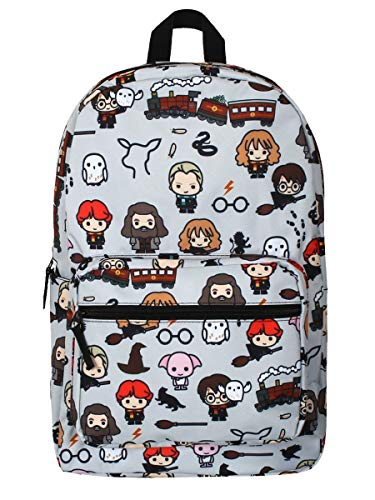 HARRY POTTER Backpack  Mochila Chibi Unisex niños  Azul Claro  School Bag