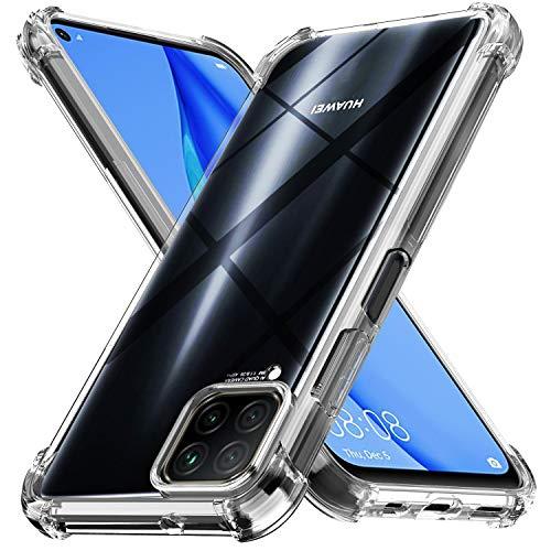Ferilinso Funda para Huawei P40 Lite Carcasa,[Reforzar la versión con Cuatro Esquinas][Funda Protectora de la cámara] Funda Protectora de Silicona de Piel de Goma TPU a Prueba (Transparente)