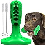 Doeki Dog Toothbrush Stick - Dog Teeth Cleaning Massager, Dog Dental Care Chew Stick - Dogs Like Milk Sweet Flavor, Natural and Durable Rubber for Medium Large Pets Dogs (Green, M)