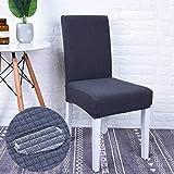 NIKIMI Fundas para sillas Impermeables Funda elástica para Comedor Funda de Asiento de vellón Polar Funda para Silla elástica para Banquetes