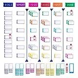 PATboard Kit de Notas Magnéticas - Completo para Tablero Scrum y Tablero Kanban