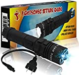 FIGHTSENSE Heavy Duty Flashlight Stun Gun - High Voltage Police Grade Strength - Rechargeable Batteries - Bright LED Flashlight with Three Modes