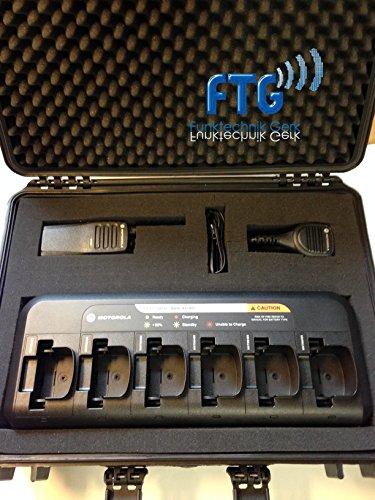 Outdoor 6 valises avec Motorola dp1400 Chargeur Appareils Radio VHF, 6 compartiments, LSM pour série DP + kundenspezifische programmation