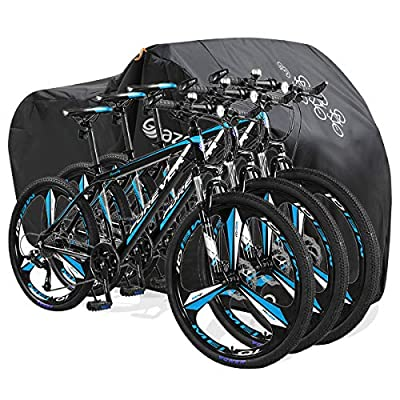 Gazeer Bicycle Cover with Lock Hole Reflective Safety Loops for 29er Mountain Road Electric Bike Motorcycle Cruiser Outdoor Storage, Waterproof, Anti-UV, Heavy Duty Ripstop Material 210D