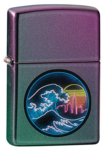 Zippo Great Vaporwave Iridescent Pocket Lighter, one Size