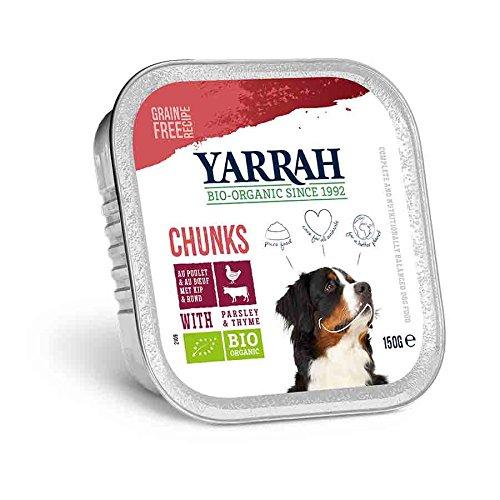 Yarrah Bio Hundefutter Bröckchen Huhn mit Rind, 1er Pack (1 x 150 Grams)