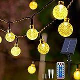 Catena Luminosa Esterno Solare - 60 LED 11.5M Luci Solari per Giardino 8 Modalità Impermeabile Luci Solari Esterno Telecomando Lucine Decorative per Esterno Giardino Matrimonio Festa(Bianco Caldo)