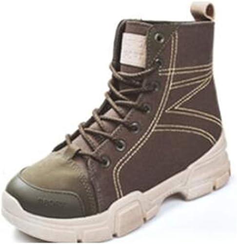 LF botas Cortas de otoño Martin botas Student Wohombres botas (Color   Army verde, Talla   EU36 UK3.5 CN35)