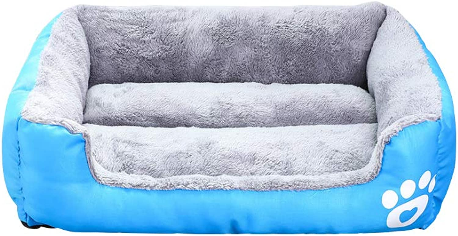 Candycolord Footprints Pet Nest Oxford Cloth and Arctic Made of Waterproof and StainProof (Size   XXS)