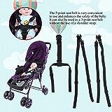 Cinturón de cochecito para asiento infantil de 5 pulgadas arnés seguro y resistente Cochecito para cinturón Cinturón de seguridad para sillas altas Cochecitos