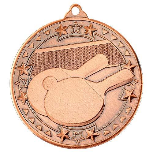 Lapal Dimension Medalla de Ping Pong, Medalla de Tri Star, Bronce, 2 Pulgadas, Paquete de 10