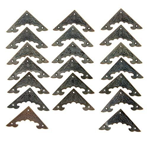 Die Halterung ist auf rechten Winkeln und Ecken befestigt 20pc Dekoration Corner Bracket Antikschmuck Holzkiste Fuß Bein Eckenschutz Crafts Möbelbeschläge Hardware 40mm / 58mm (Color : Size 40x40mm)