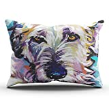 DOUMIFA Irish Wolfhound Bright Colorful Pop Dog Art Pillowcase Home Sofa Decorative 20x36 King Throw Pillow Case Decor Cushion Covers One Sided Printed