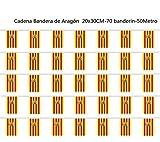Durabol Cadena Bandera de Aragón Comunidades autónomas de España 70 Banderin 20 X 30 CM - 50 Metro (Aragón)