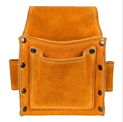 WGGTX Organizadores de Herramientas Bolsillos Cintura de Cuero Cinturón de la Bolsa Bolsa Bolsa Destornillador Kit de reparación Titular de la Herramienta Accesorios portátiles
