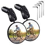 Fahrradspiegel 1 Paar,Universal Verstellbar 360°Fahrrad Rückspiegel,HD/Schlagfest/Konvexspiegel,Fahrradspiegel für Lenker 17.4-22 mm,Passend für Fahrrad,Mountainbike,Rennräder
