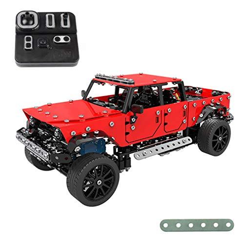 Camion radiocomandato per montare RC metallico (547 pezzi) | Kit di costruzione in metallo per auto radiocomando elettrico con motore | Robotico per bambini | Giocattoli educativi per bambini