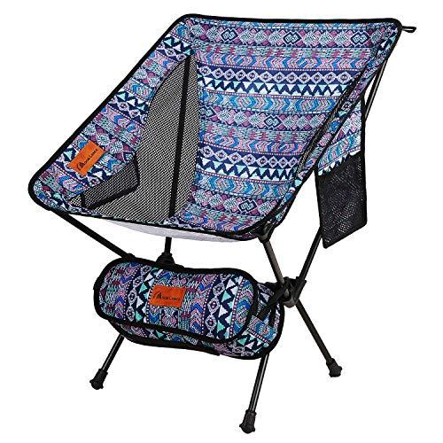 Moon Lence アウトドア チェア キャンプ 椅子 コンパクト 折りたたみ 超軽量 収納バッグ ハイキング 耐荷重...