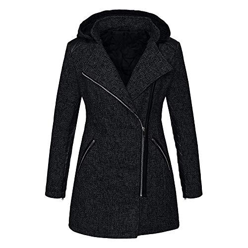Abrigo largo de lana para mujer Abrigos de mezcla elegante Abrigo largo femenino delgado Chaqueta de abrigo Abrigo Invierno Mujer Chaqueta Suéter Jersey Mujer Cardigan Mujer Tallas Grandes Outwear