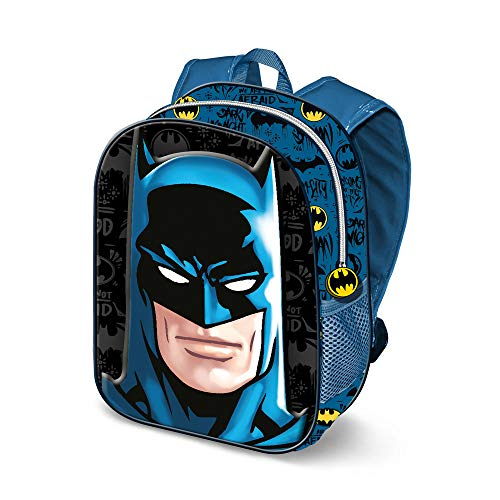 KARACTERMANIA Batman Knight-3D Backpack (Small) Kinder-Rucksack, 31 cm, 8.5 liters, Mehrfarbig (Multicolour)