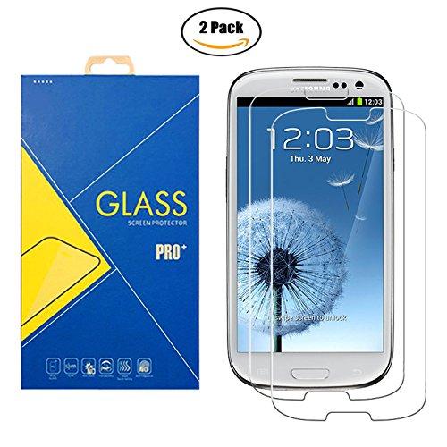 [2 Pack] Pellicola Vetro Temperato Compatibile Samsung Galaxy S3 / S3 Neo - GT-i9300 / i9300i / 9300 / i9301i / i9301 / i9301 / SIII - Schermo Antiurto Antigraffio