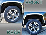 QAA fits 2015-2020 Chevrolet Colorado 4 Piece Stainless Wheel Well Accent Trim, 1.5