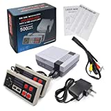 Classic Retro Game Console, AV Output NES Console Built-in 500 Classic Video Games for Kids Gift Birthday Gift