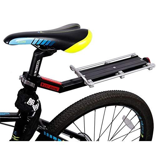 Portabultos Bicicleta Estante de la bici de la bicicleta Portaequipajes carga trasera del estante del estante del reflector Ciclismo Tija de sillín Bolsa del sostenedor de bicicletas Bastidores Portae