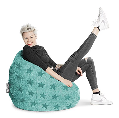 SITTING POINT only by MAGMA Sitzsack Fluffy Stars XL ca. 220 Liter türkis