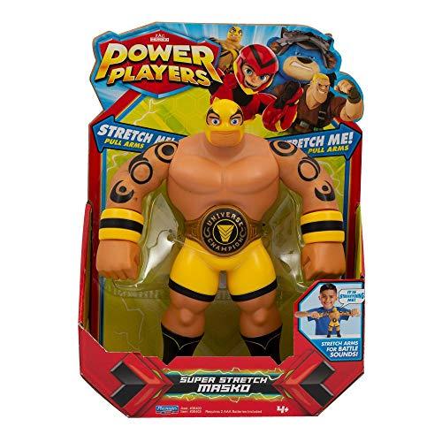 Power Players, Figurine Deluxe électronique 22 cm, Masko, Fonctions Sonores avec les voix de la série, Jouet pour enfants dès 4 ans, PWW024