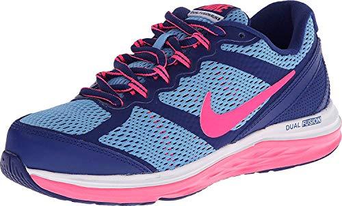 Nike Dual Fusion Run 3 Girls Running Shoes (Big Kid) 6.5 Big Kid M Deep Royal Blue/University Blue/White/Hyper Pink