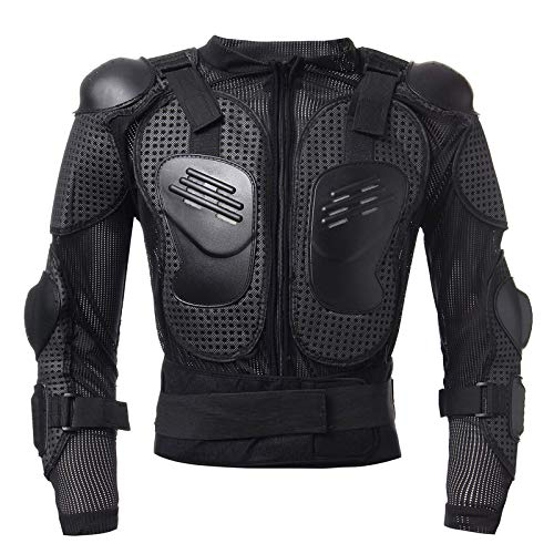Motorcycle Protective Jacket Motorcycle Bike Full Body Armor Gear Chest Shoulder Motocross Racing Protective Jacket Motocross Body Armor (Size:XL)