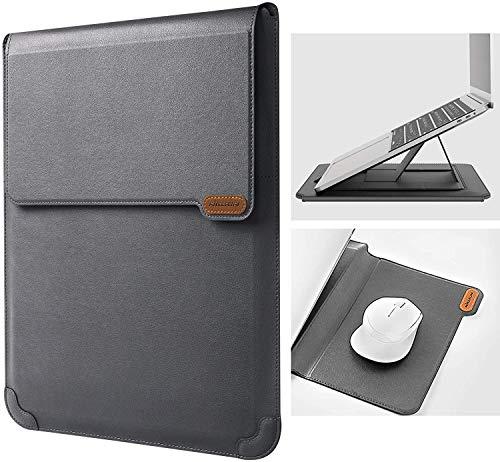 Nillkin 15,6 Pollici Custodia per laptop Portatile Borsa con Funzione Stand, Computer bag antiurto con mouse pad Compatibile con MacBook Pro 16, 15 Zoll Dell,Lenovo,Acer,Huawei MateBook (Grigio)