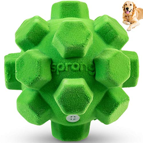 pet supplies balls Pet Craft Supply The Original Classic Sprong Ball Interactive Dog Toy - Bouncy Soft Super Squeaky Dog Ball for Large Breed, Medium and Small Dogs, Green (2200)
