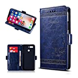 KJYF Wallet Case for ZTE Nubia Z18 Mini (5.20'), Cell Phone Cases Stand Card Flip Shell PU Leather Phone Cover Convenient Protective Case Compatible with ZTE Nubia Z18 Mini (5.20').[Blue]