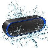Altavoz Bluetooth 12W, 24H de Reproducción, Altavoz Portatil Bluetooth 5.0, Altavoz Exterior con Micrófono, Altavoces Inalámbrico con AUX/TF, para Móvil, Tabletas, MP3, Fiestas, Viajes, Azul